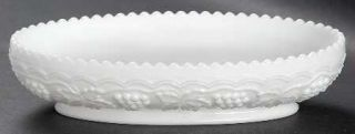 Imperial Glass Ohio Vintage Grape Milk Glass Celery Dish   Milk Glass,Grape Desi
