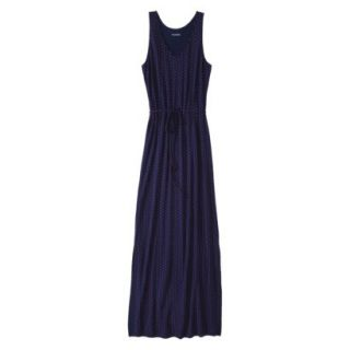 Merona Petites Sleeveless Maxi Dress   Navy M