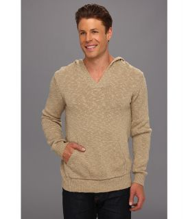 Lucky Brand Slub Hooded Pullover Sweater Mens Sweater (Taupe)