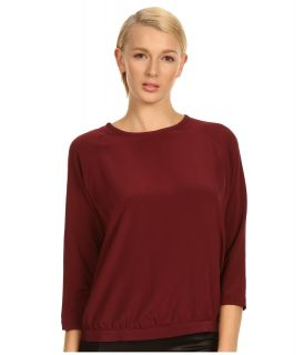 Tibi Solid Heavy CDC Easy Top Womens Clothing (Burgundy)