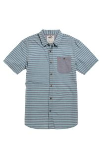 Mens Vans Shirt   Vans Rusden Stripe Short Sleeve Woven Shirt