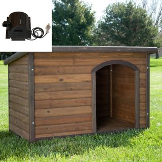 Boomer & George Log Cabin Dog House with cooling fan Multicolor   AKO011