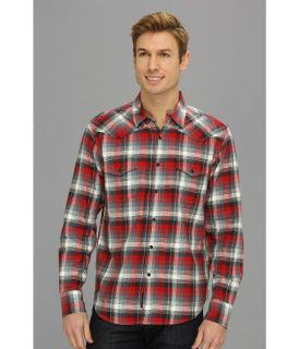 Lucky Brand Downdraft Plaid Western Shirt Mens Long Sleeve Button Up (Multi)