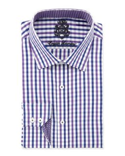 Classic Fit Large Plaid Dress Shirt, Lavender