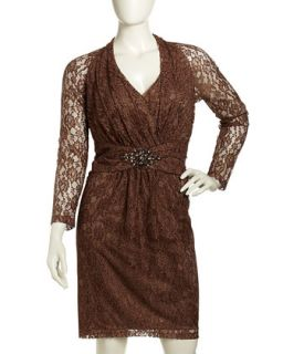Leopard Print Lace Dress, Womens