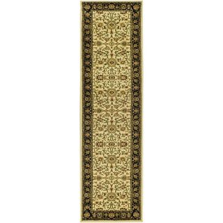 Lyndhurst Collection Majestic Ivory/ Black Runner (23 X 12)