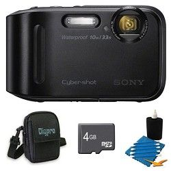 Sony Cyber shot DSC TF1 16 MP 2.7 Inch LCD Waterproof Digital Camera Black Kit