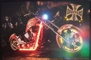 West Coast Choppers Bike Neon/LED Poster