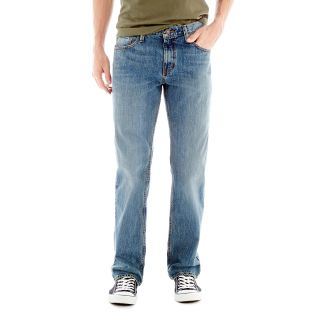 ARIZONA Original Straight Medium Wash Jeans, Med Vintage Worn, Mens