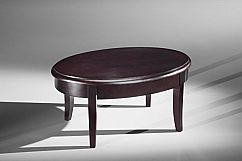 Classic Modern Coffee Table in Brazilian Cherry Veneers and Solids