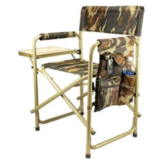 Picnic Time Sports Chair with Table and Pockets   Camouflage
