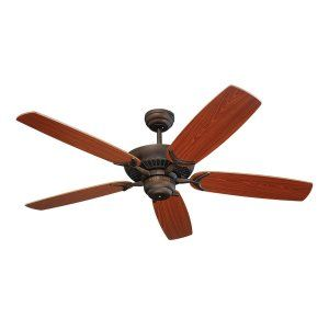 Monte Carlo MON 5CO52RB Roman Bronze Colony 52 5 Blade Mahogany Ceiling Fan