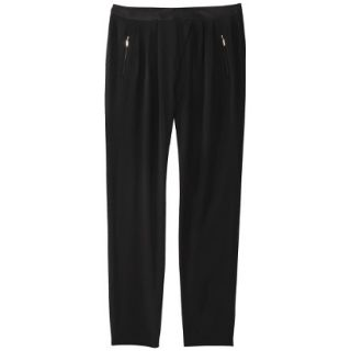 Mossimo Womens Drapey Pleat Pant   Black 8