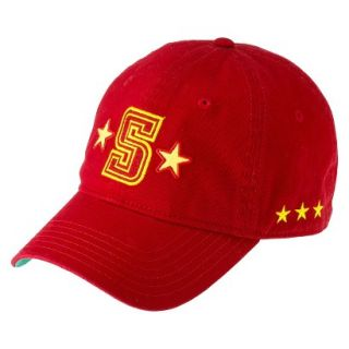 Mens Red and Yellow S Baseball Hat