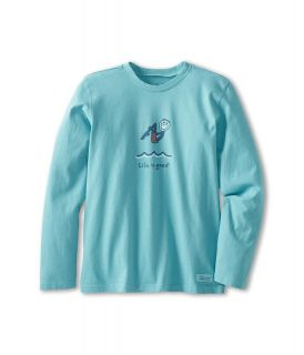 Life is good Kids Crusher L/S Cannonball Tee Boys Long Sleeve Pullover (Blue)