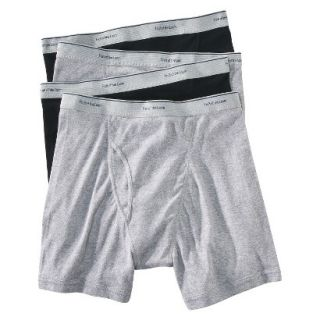 Fruit of the Loom Mens Boxer Briefs 4 Pack   Black/Grey XL