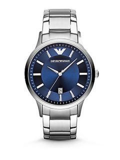 Emporio Armani Round Stainless Steel Watch    Stainless Steel