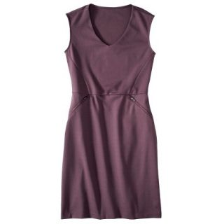 Mossimo Womens Ponte Sleeveless Dress w/ Zippered Pockets   Berry Lacquer XS