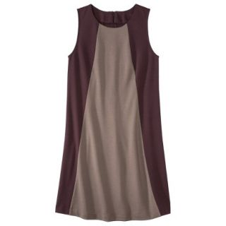 Mossimo Womens Colorblock Shift Dress   Berry/Timber XS