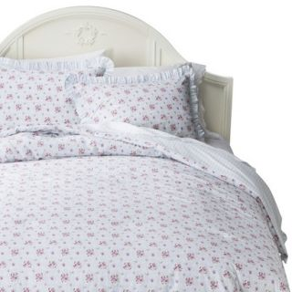 Simply Shabby Chic Window Box Floral Comforter Set   Blue (Twin)