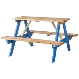Room Essentials Kids Wood Patio Picnic Table   Blue
