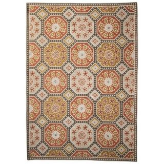 Threshold Indoor/Outdoor Mosaic Area Rug   Red/Gold (5x7)
