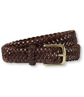 Mens Essential Braided Leather Belt