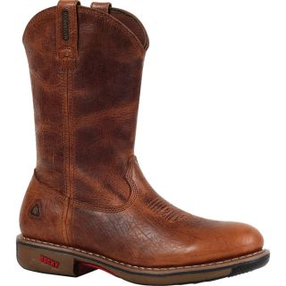 Rocky Ride 11In. Waterproof Western Boot   Palomino, Size 12, Model 4181
