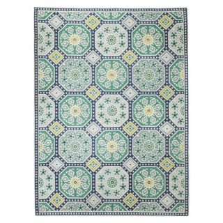 Threshold Indoor/Outdoor Mosaic Area Rug   Blue/Green (5x7)