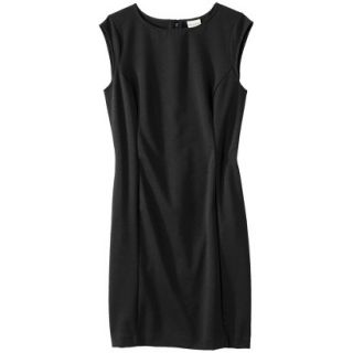 Merona Womens Ponte Sheath Dress   Black   XXL