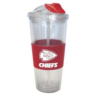 Boelter Brands NFL 2 Pack Kansas City Chiefs No Spill Tumbler with Straw   22 oz