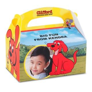 Clifford The Big Red Dog Personalized Empty Favor Boxes