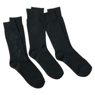 Merona Mens 3Pack Dress Socks   Black
