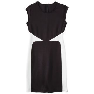 Mossimo Womens Colorblock Scuba Dress   Black M