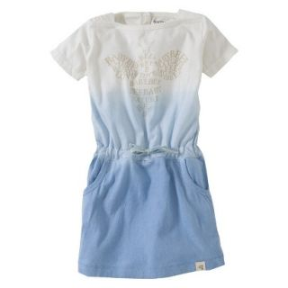 Burts Bees Baby Toddler Girls Dip Dyed Boatneck Dress   Blue 4T
