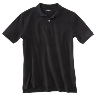 Mens Classic Fit Polo Shirt Ebony Black XL