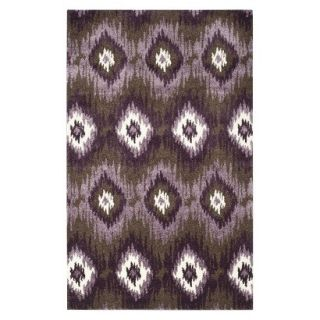 Safavieh Samira Area Rug   Dark Brown/Eggplant (5x8)