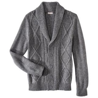 Merona Mens Shawl Collar Cardigan   Heather Gray XL