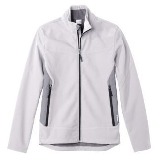 C9 by Champion Mens VentureDry Soft Shell Jacket   White/Grey M