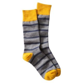 Merona Mens 1pk Dress Socks   Navy/Grey/Gold Stripes