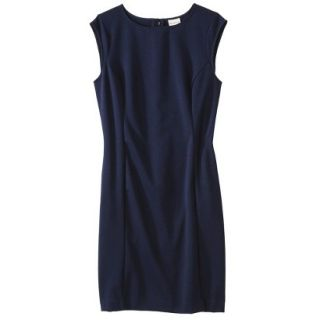 Merona Petites Sleeveless Ponte Sheath Dress   Navy Blue SP