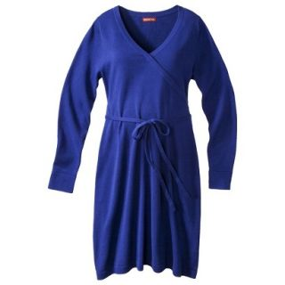 Merona Maternity Long Sleeve V Neck Sweater Dress   Blue XS