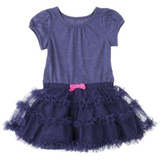 Cherokee Infant Toddler Girls Tutu Dress   Nightfall Blue 2T