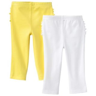 Just One YouMade by Carters Newborn Girls 2 Pack Pant   Yellow/White 9 M