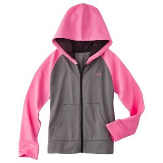 C9 by Champion Girls Tech Fleece Full Zip Hoodie   Hardware Gray XS