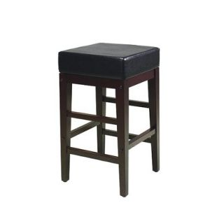 Counter Stool Office Star Square Metro Counter Stool   Dark Brown