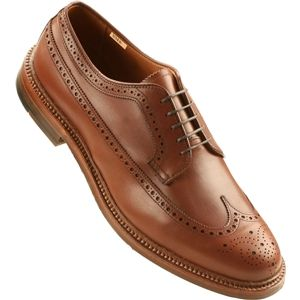 Alden Mens Long Wing New Dark Tan Shoes, Size 8 D   97641