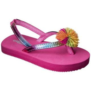 Toddler Girls Koosh Ball Flip Flop Sandals   Pink 4 5