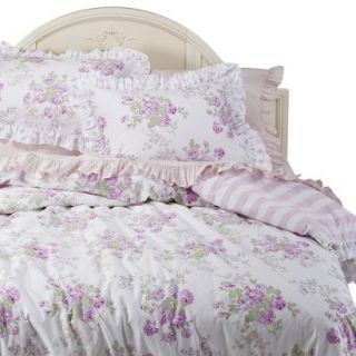 Simply Shabby Chic Essex Floral Duvet Cover Cover Set   Pink/White (Twin)