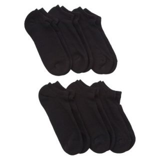 JKY by Jockey Mens 6pk No Show Liner Socks   Black